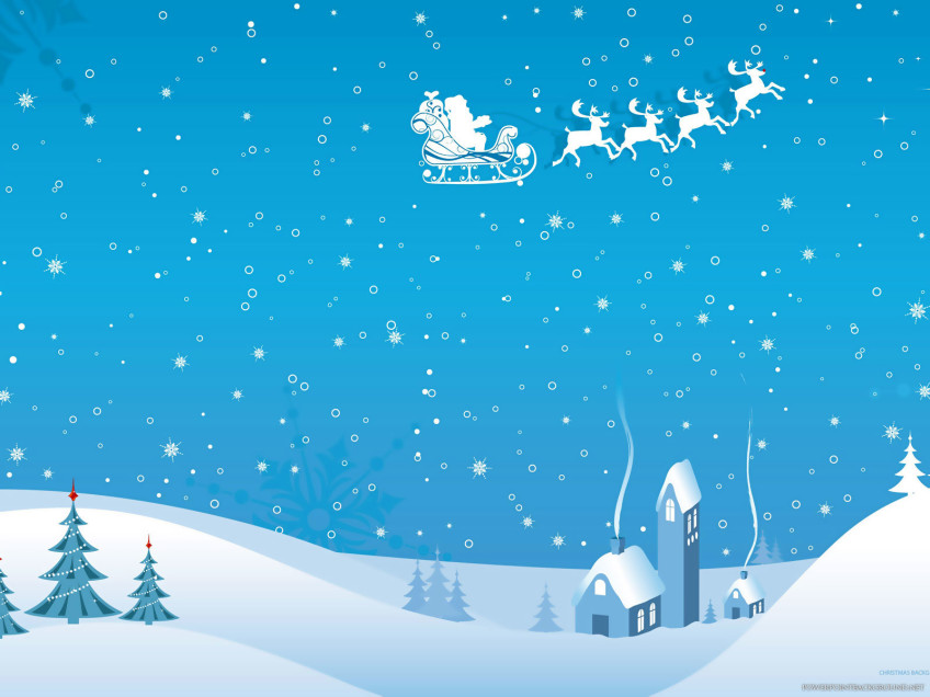 christmas winter powerpoint background