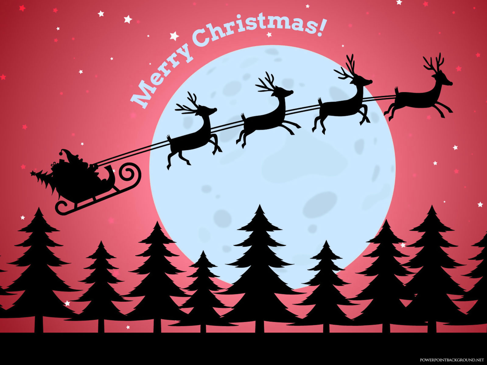 Merry Christmas Santa Claus Background – Powerpoint Background