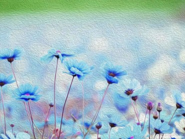 Blue Flower Painting Background