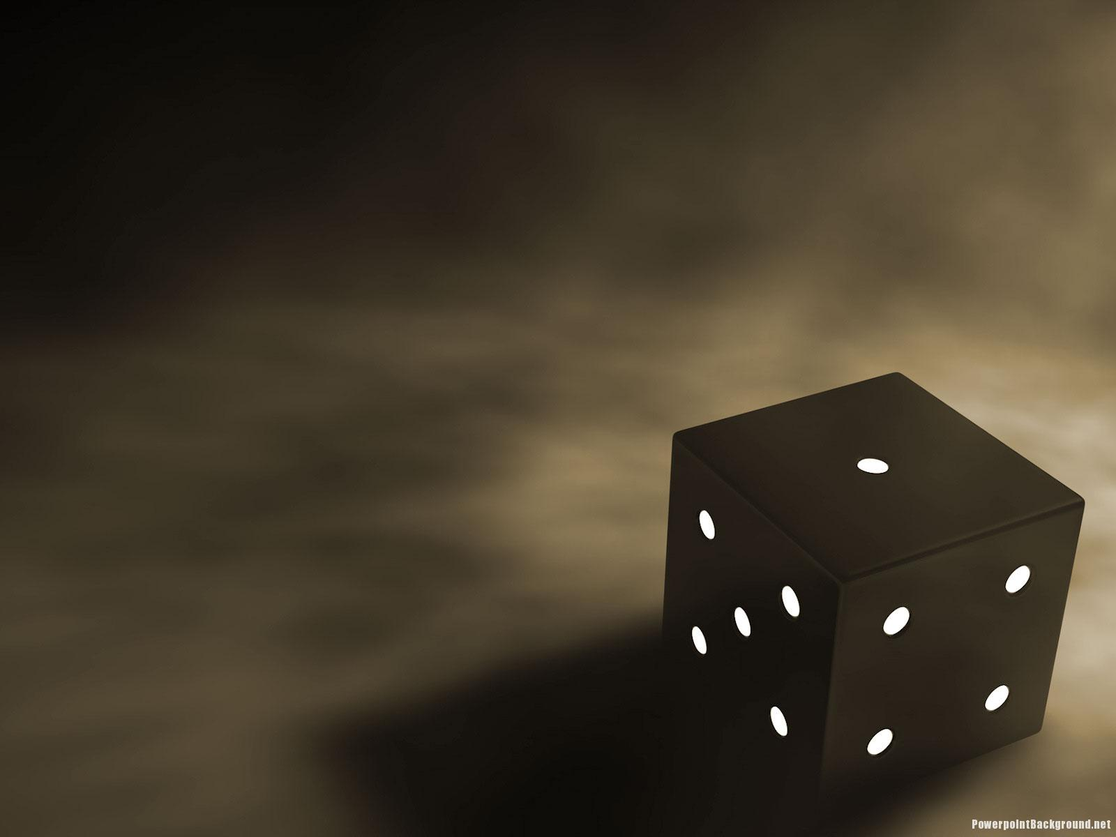 dark dice background – powerpoint background, Modern powerpoint
