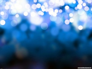 Blue Background Bokeh Presentation Background