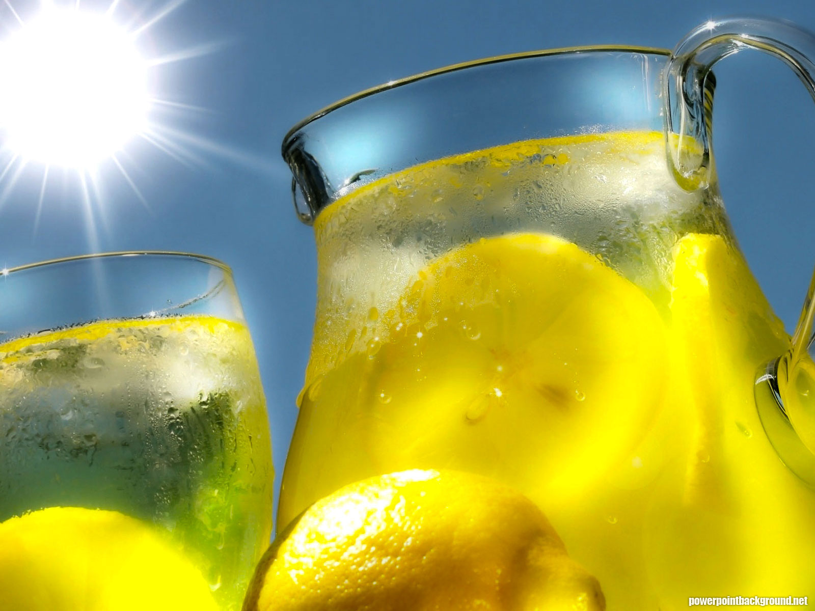 Fresh Lemon Water Background for Powerpoint