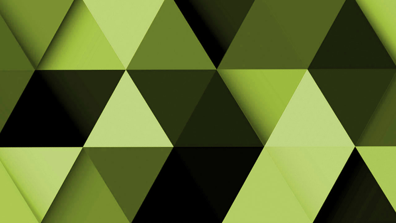 green-triangle-abstract-background